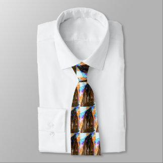 """""""peter max art style"""" black Hercules tie"""