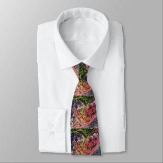 """peter max art style"" Heart tie"