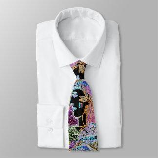 """peter max art style"" mardi gras tie"
