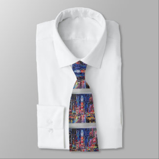 """""""peter max art style"""" NYC Times square tie"""