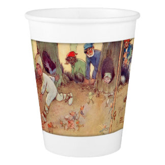 Peter Pan and Fairies running from Pirates Paper Cup