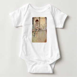 Peter Pan Baby at Window with Fairies Baby Bodysuit