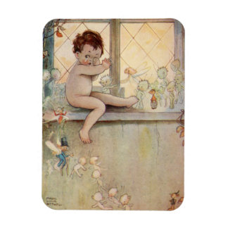 Peter Pan Baby at window with fairies Magnet