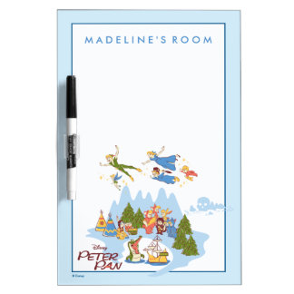 Peter Pan Flying over Neverland Dry Erase Board