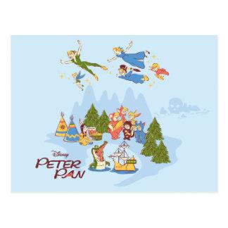 Peter Pan Flying over Neverland Postcard