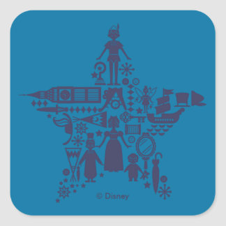 Peter Pan & Friends Star Square Sticker
