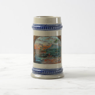 Peter Pan Hook's cove Tinker Bell painting Beer Stein