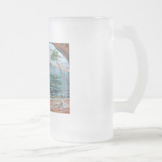 Peter Pan Hook's cove Tinker Bell painting Frosted Glass Beer Mug