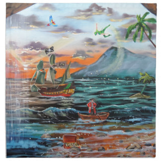 Peter Pan Hook's cove Tinker Bell painting Napkin