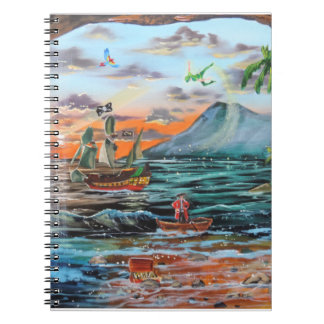 Peter Pan Hook's cove Tinker Bell painting Notebooks