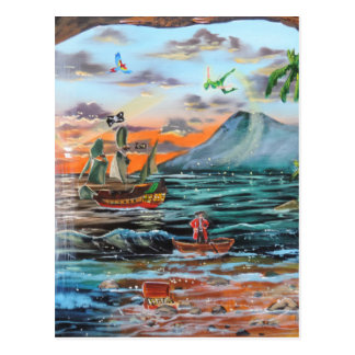 Peter Pan Hook's cove Tinker Bell painting Postcard