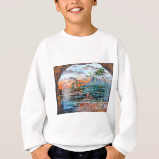 Peter Pan Hook's cove Tinker Bell painting Sweatshirt