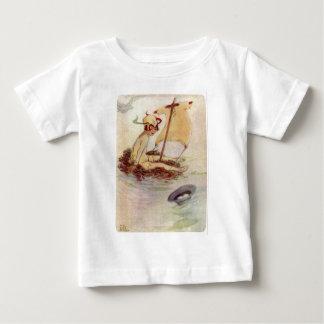 Peter Pan on Nest Raft Baby T-Shirt