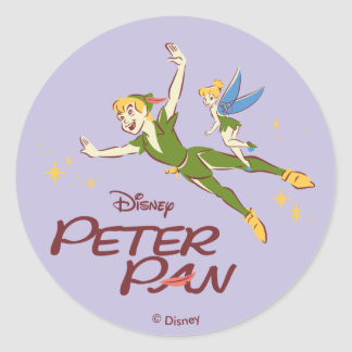Peter Pan & Tinkerbell Classic Round Sticker