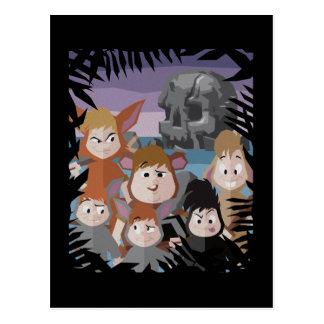 Peter Pan's Lost Boys At Skull Rock Postcard