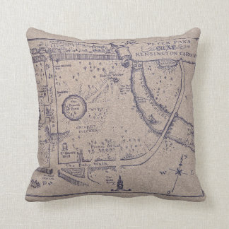 Peter Pan's Map of Kensington Gardens Cushion