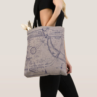Peter Pan's Map of Kensington Gardens Tote Bag