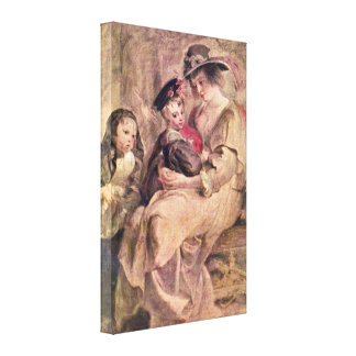 Peter Paul Rubens - The artists family Gallery Wrap Canvas