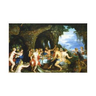 Peter Paul Rubens The Feast of Acheloüs Canvas Print