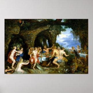 Peter Paul Rubens The Feast of Acheloüs Poster