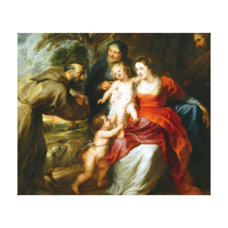 Peter Paul Rubens The Holy Family with Saints Canvas Print
