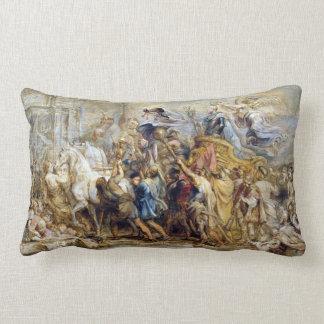 Peter Paul Rubens The Triumph of Henry IV Lumbar Cushion