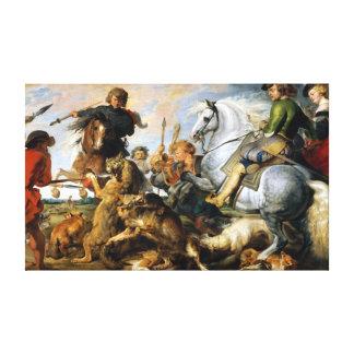 Peter Paul Rubens Wolf and Fox Hunt Canvas Print