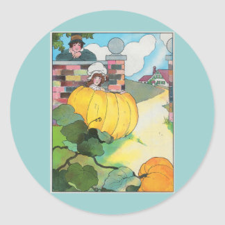 Peter, Peter, pumpkin-eater, Round Sticker