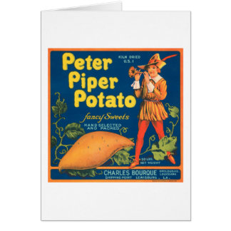 Peter Piper Potato Fancy Sweets Vintage Crate Labe Greeting Card