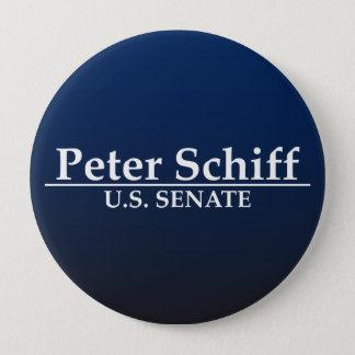 Peter Schiff U.S. Senate 10 Cm Round Badge