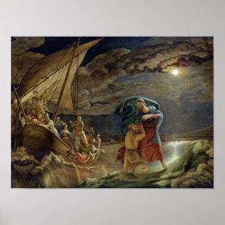 Peter Walks on Water, 1806 Poster