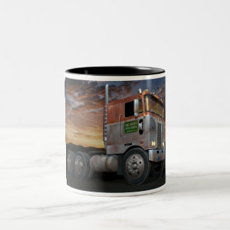 Peterbilt Cabover Two Tone Coffee Mug