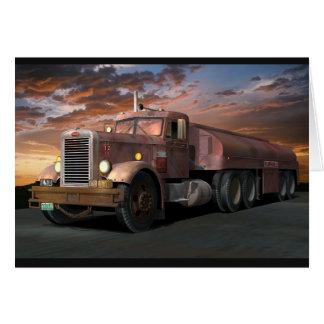 """Peterbilt """"Duel Truck"""" Greeting Card"""