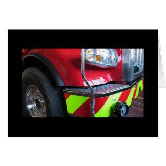 Peterbilt fire truck greeting card