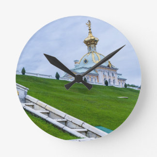 Peterhof Palace and Gardens St. Petersburg Russia Round Clock