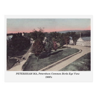 Petersham MA, Petershan Commons 1900s postcard
