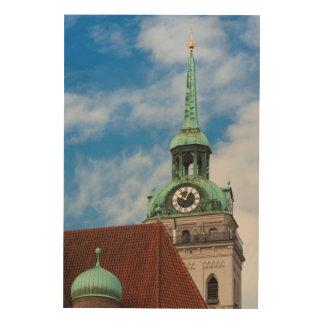 Peterskirche Church Tower Wood Wall Decor