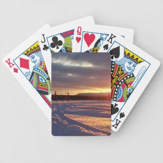 Petersville Sunset Alaskan Bicycle Playing Cards