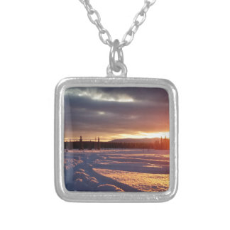 Petersville Sunset Alaskan Silver Plated Necklace