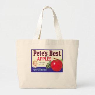 PETES BEST APPLES JUMBO TOTE BAG