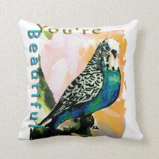 Petie the Parakeet Pillow