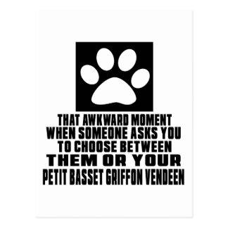 PETIT BASSET GRIFFON VENDEEN AWKWARD DESIGNS POSTCARD