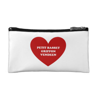 Petit Basset Griffon Vendeen Cosmetics Bags