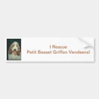 Petit Basset Griffon Vendeen Bumper Sticker