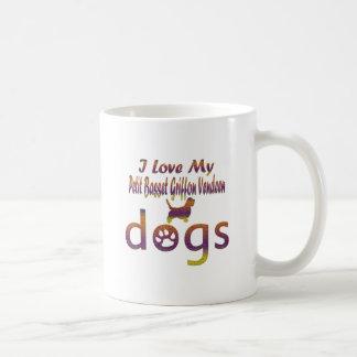 Petit Basset Griffon Vendeen designs Coffee Mugs