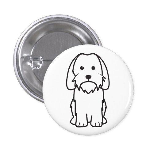 Petit Basset Griffon Vendeen Dog Cartoon Pins