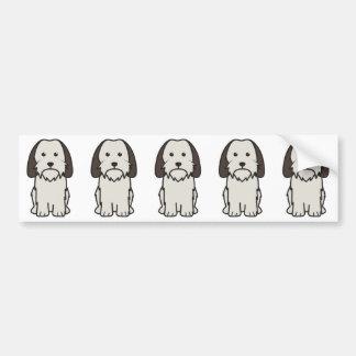 Petit Basset Griffon Vendeen Dog Cartoon Bumper Sticker