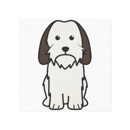 Petit Basset Griffon Vendeen Dog Cartoon Gallery Wrap Canvas