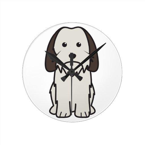 Petit Basset Griffon Vendeen Dog Cartoon Round Wall Clock