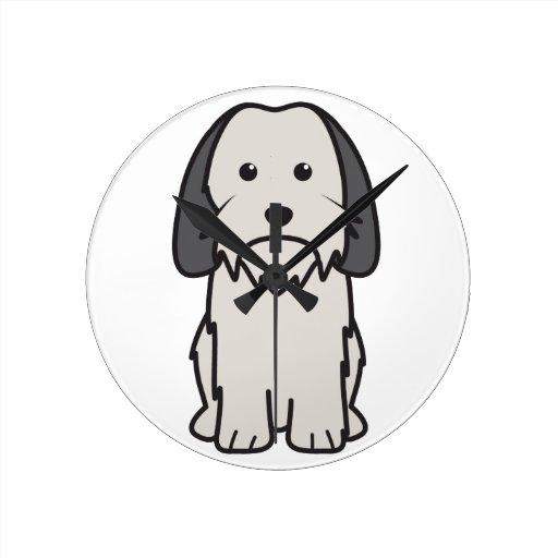 Petit Basset Griffon Vendeen Dog Cartoon Clock